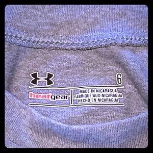 Boys Under Armour grey Heat Gear shirt